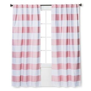 NEW Pillowfort Pink Stripe Blackout Curtain Panel